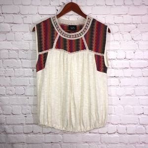 W5 Top Linen Boho Knit Tunic By Anthropologie